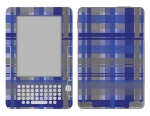 Amazon Kindle 2 Skin :: Oceans Deep Plaid