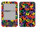 Amazon Kindle 3 Skin :: Alphabet Soup