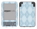 Amazon Kindle 3 Skin :: Argyle Blue