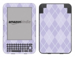 Amazon Kindle 3 Skin :: Argyle Purple