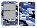 Amazon Kindle 3 Skin :: Camo Blue