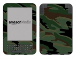Amazon Kindle 3 Skin :: Camo Green