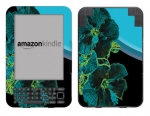 Amazon Kindle 3 Skin :: Cosmic Flowers 2
