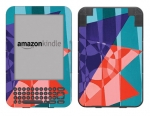 Amazon Kindle 3 Skin :: Geometric Blast