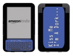 Amazon Kindle 3 Skin :: Kiss Me Dork