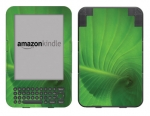 Amazon Kindle 3 Skin :: Spiraling Green