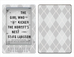 Amazon Kindle DX Skin :: Argyle Gray