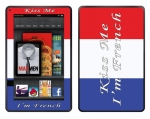 Amazon Kindle Fire Skin :: Kiss Me French