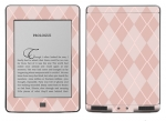 Amazon Kindle Touch Skin :: Argyle Red