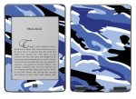 Amazon Kindle Touch Skin :: Camo Blue