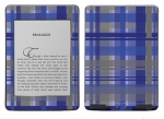Amazon Kindle Touch Skin :: Oceans Deep Plaid