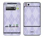 Motorola Droid X Skin :: Argyle Purple