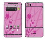 Motorola Droid X Skin :: Floating Hearts