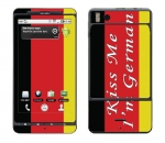 Motorola Droid X Skin :: Kiss Me German