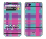 Motorola Droid X Skin :: Candy Shop Plaid