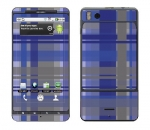 Motorola Droid X Skin :: Oceans Deep Plaid