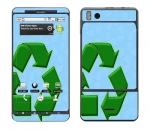 Motorola Droid X Skin :: Recycle