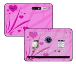 Motorola Xoom Skin :: Floating Hearts