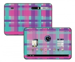 Motorola Xoom Skin :: Candy Shop Plaid