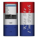 Apple Nano 4th Gen Skin :: Kiss Me French