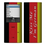 Apple Nano 4th Gen Skin :: Kiss Me German