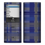Apple Nano 4th Gen Skin :: Oceans Deep Plaid