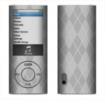 Apple Nano 5th Gen Skin :: Argyle Gray