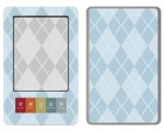 Barnes & Noble Nook Skin :: Argyle Blue