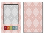 Barnes & Noble Nook Skin :: Argyle Red