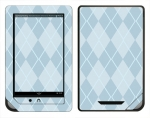 Barnes & Noble Nook Color Skin :: Argyle Blue
