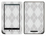 Barnes & Noble Nook Color Skin :: Argyle Gray