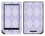 Barnes & Noble Nook Color Skin :: Argyle Purple
