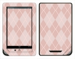 Barnes & Noble Nook Color Skin :: Argyle Red
