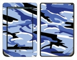 Barnes & Noble Nook Color Skin :: Camo Blue