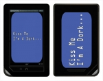 Barnes & Noble Nook Color Skin :: Kiss Me Dork