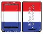 Barnes & Noble Nook Color Skin :: Kiss Me French
