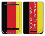 Barnes & Noble Nook Color Skin :: Kiss Me German