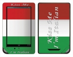 Barnes & Noble Nook Color Skin :: Kiss Me Italian