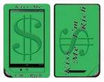 Barnes & Noble Nook Color Skin :: Kiss Me Rich