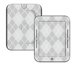 Barnes & Noble Nook Touch Skin :: Argyle Gray