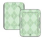 Barnes & Noble Nook Touch Skin :: Argyle Green