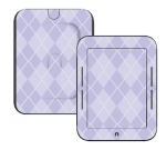 Barnes & Noble Nook Touch Skin :: Argyle Purple