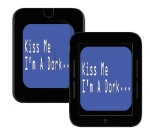 Barnes & Noble Nook Touch Skin :: Kiss Me Dork