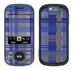 Samsung Exclaim Skin :: Oceans Deep Plaid