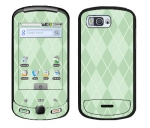 Samsung Moment Skin :: Argyle Green