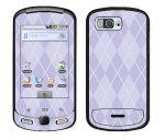 Samsung Moment Skin :: Argyle Purple