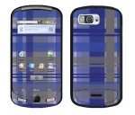 Samsung Moment Skin :: Oceans Deep Plaid