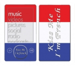 Microsoft Zune Skin :: Kiss Me French