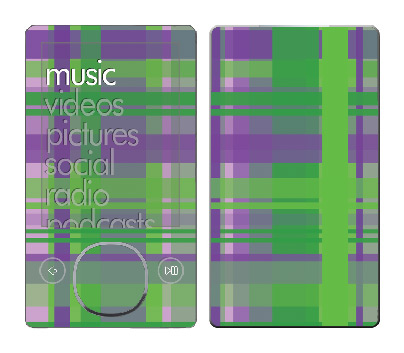 Microsoft Zune Skin :: Punk Rock Plaid