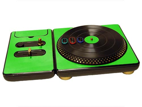 DJ Hero for the PS2, PS3, and 360 Skin :: Lime Green Chrome
